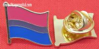 Bisexual Flag Lapel Pin Badge Bi Sexual Pride LGBT Diversity Symbol Sign Brooch